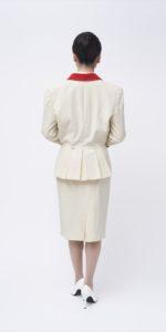 白燕尾スーツ(赤襟)